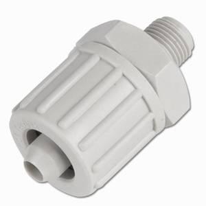 Gerader Verbinder für Gewebeschlauch TX Verbinder Verschraubung PP bis 10 bar