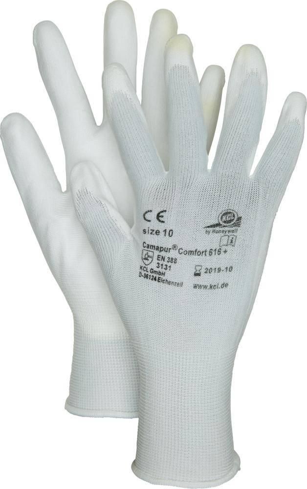 10 Paar Nappa//Trikot-Handschuhe mit Strickbund Gr.10