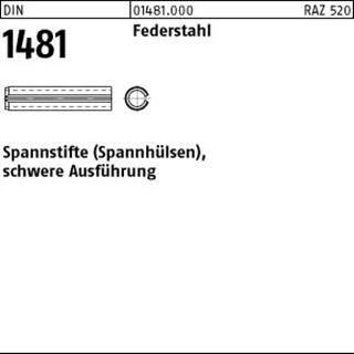 10 x  Spannstifte Spannhülsen,schwere Ausführung DIN 1481 Federstahl 16 x 130 VE