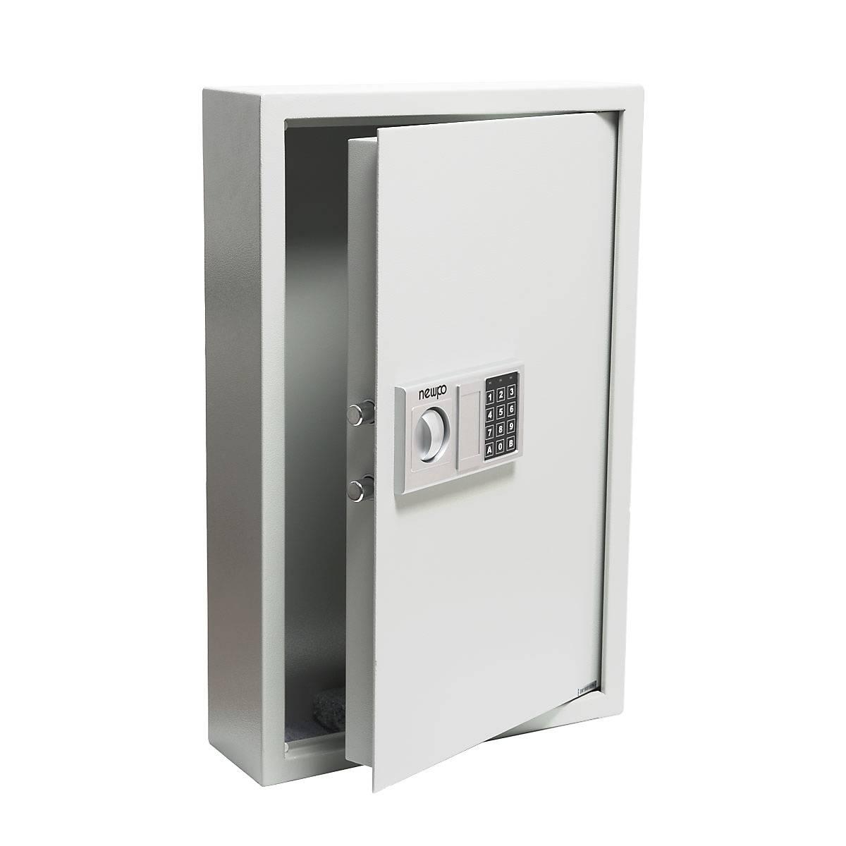 Schlüsselsafe mit Zahlenschloss Schlüsselkasten Key-Box Weiß Dunkelgrau