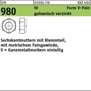 Sechskantmuttern DIN 934 8 M 39 galv 1 Stück verzinkt gal Zn Inhalt
