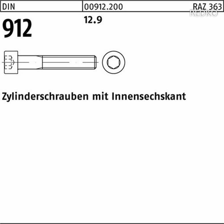 verzinkt farb Innensechskant M 6 x 20 8.8 galv 10x DIN 912 Zylinderschraube