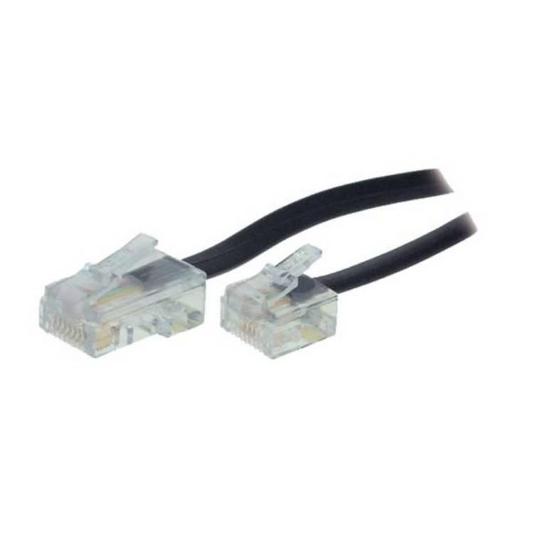 kabelbude.eu ISDN Westernverl/ängerung RJ12 Stecker//Buchse 3m