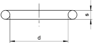 O-Ring 53 x 5 mm NBR 70 Menge 2 Stück Dichtring