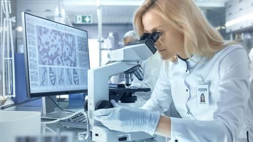Mikroskop im Einsatz