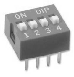 DIP-Schalter 4-polig rot