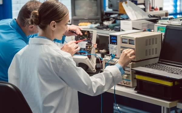 Oszilloskope werden im Labor eingesetzt
