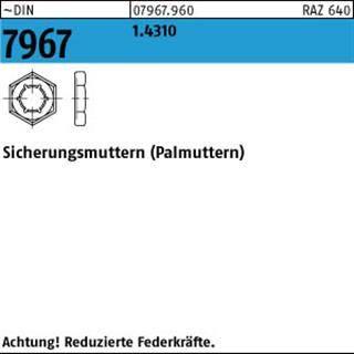 Sicherungsmuttern Edelstahl A2 Aussensechskant metrisch DIN7967 M6 M24,