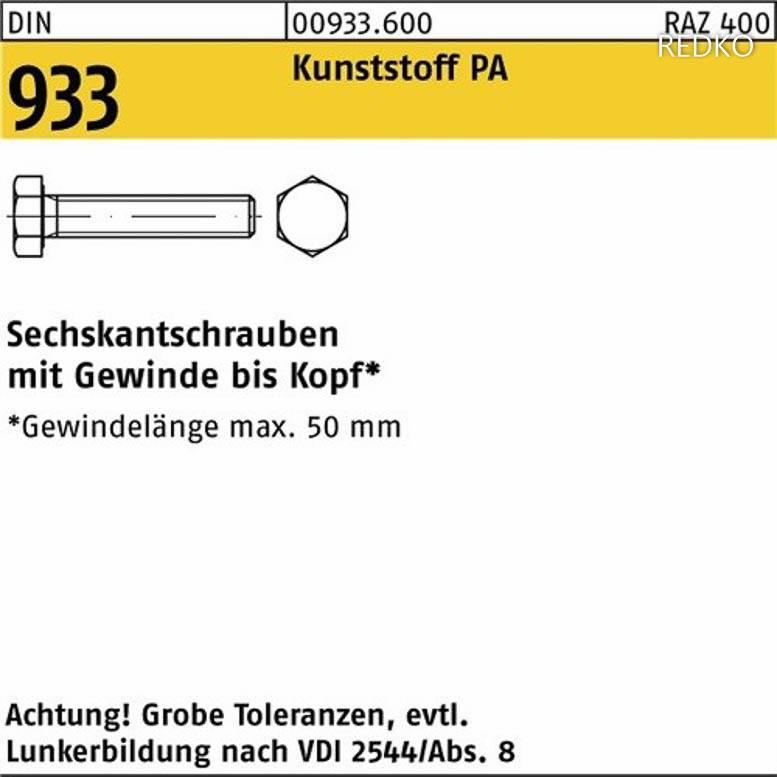 Sechskantschrauben DIN 933 A 2-70 M 12 x 140 A 2 Inhalt 1 Stück