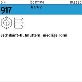 M 6 Edelstahl A2 niedrige Form 200 St/ück Sechskant-Hutmuttern DIN 917