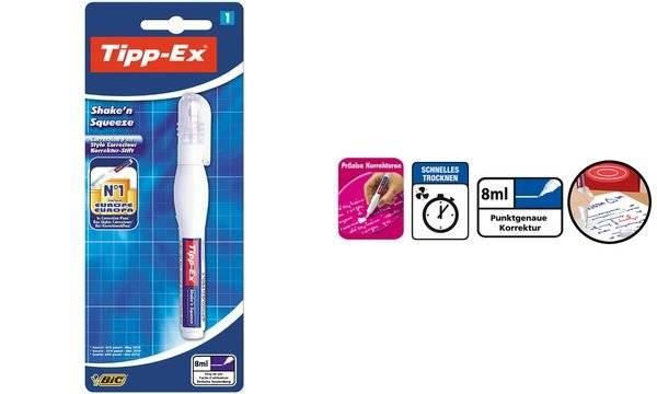 Korrekturstift Tipp-Ex/® Shake/´n Squeeze Inhalt 8ml wei/ß