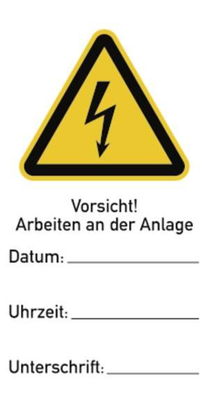 Warnung vor heißer Oberfläche Kunststoff 200 mm Zeichen Schild