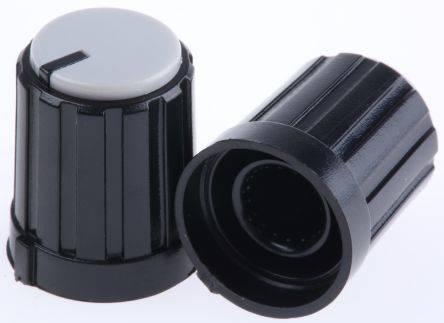 0059 Drehknopf Ger/äteknopf Potiknopf 6mm schwarz 4 St/ück