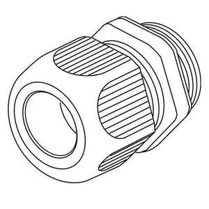 KLEINHUIS IPON-Kabelverschraubung M32 1234VM3201 lichtgrau 10 Stück