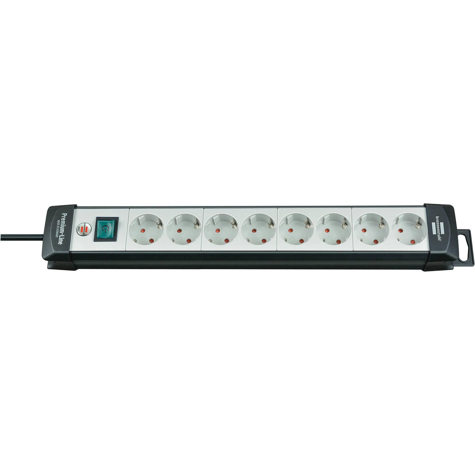 3m s 8-fach mit Schalter 4x Schutzkontakt 4x Euro InLine® Steckdosenleiste