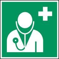 Selbstklebende Folie mit Zeichen für Arzt