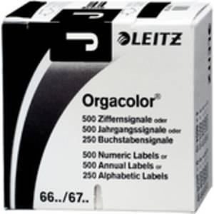 """auf Rolle schwarz LEITZ Buchstabensignal Orgacolor /""""J/"""""""