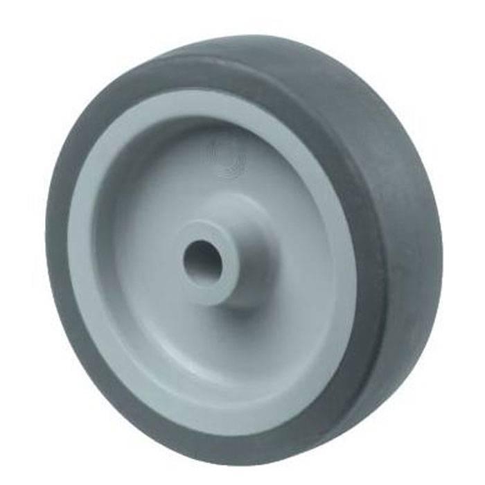 Dübel Bs Rollen Lenkrolle B55 Durchmesser 100mm Tragkraft 70kg Vollgummireifen Schwarz