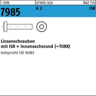 Linsenkopfschrauben Sortiment DIN 7985 mit TORX 600 Teile EDELSTAHL A2 M2,5