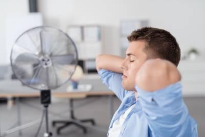 Ventilator im Büro