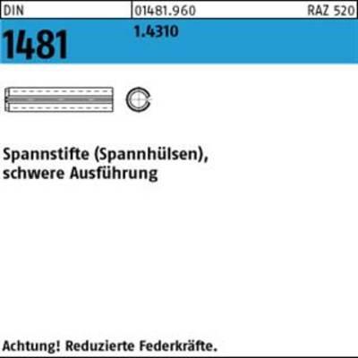 25 Edelstahl Spannstifte DIN 1481 schwere Ausführung 8 x 32 aus 1.4310