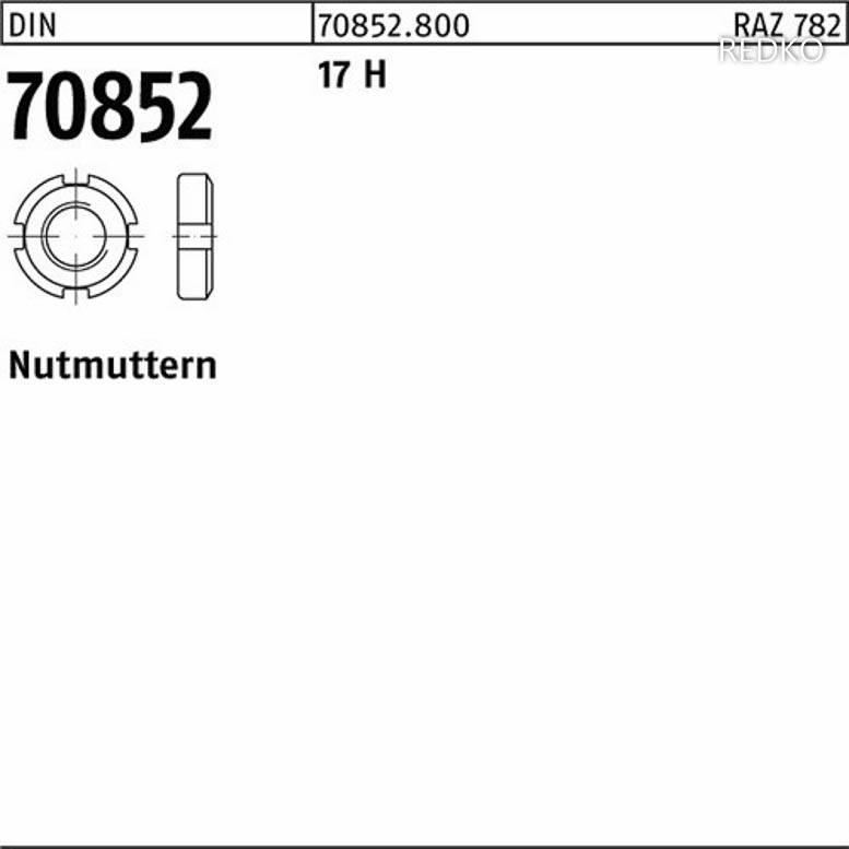 1 Stück Nutmuttern DIN 70852 17 H M 32 x 1,5 Inhalt