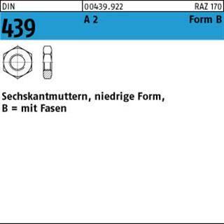 Sechskantmuttern DIN 439 niedrige Form EDELSTAHL A2 BM M1,6 M8