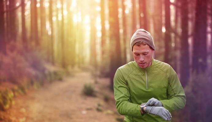 Kontrolle beim Laufen durch Pulsuhr