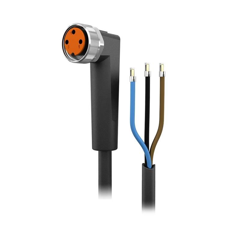 abgewinkelt mit 5 m Kabel autosen AA004 2 LEDs M8 Anschlusskabel