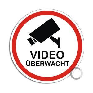 Hinweisschild Bereich wird videoüberwacht Pikto Folie selbstklebend 300x200mm