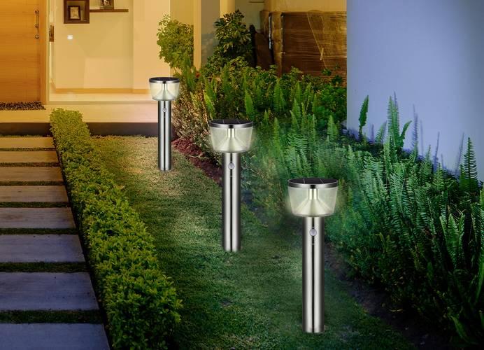 Solar-Gartenleuchte mit Bewegungsmelder