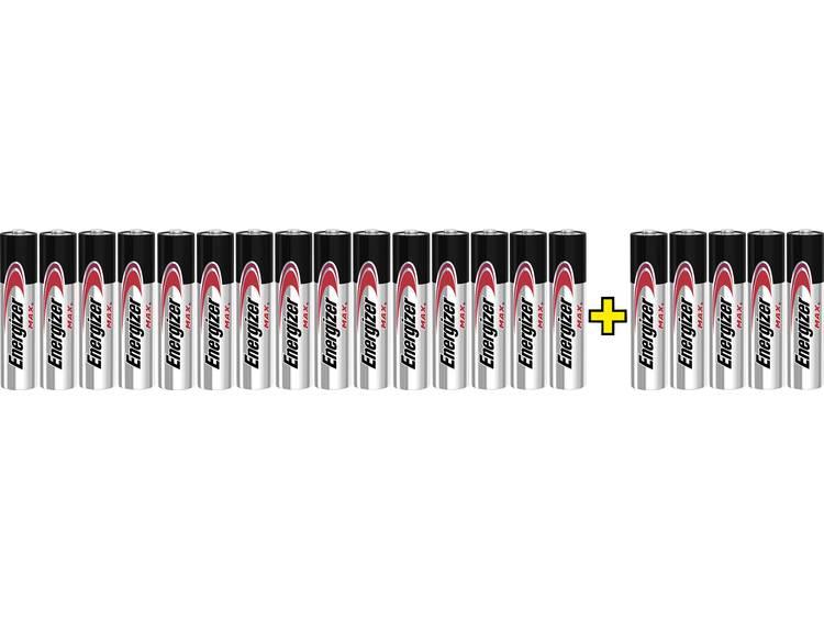 AAA batterij (potlood) Energizer Max 15+5 gratis Alkaline 1.5 V 20 stuks