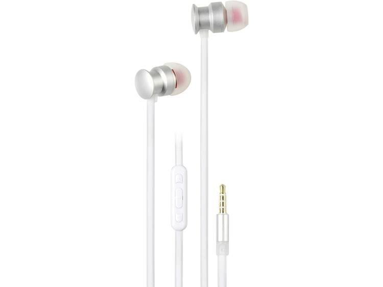 Vivanco URB 60 SW HiFi In Ear oordopjes Zilver, Wit