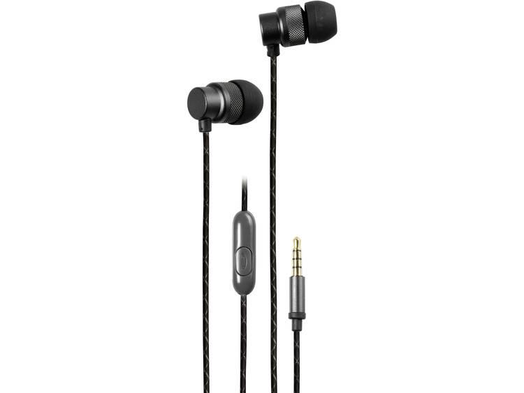 Vivanco URB 50 B HiFi In Ear oordopjes Zwart (metallic)