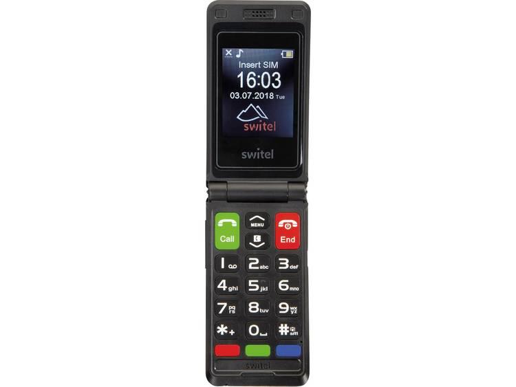Switel M222 Senioren clamshell telefoon Zwart