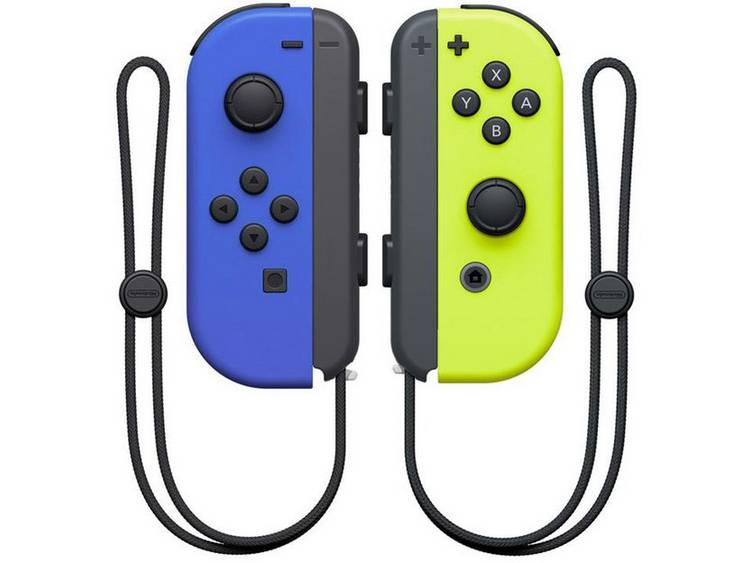 Nintendo Switch Joy-Con 2er-Set blau/neon-gelb Controller Nintendo Switch Blauw, Neon-geel
