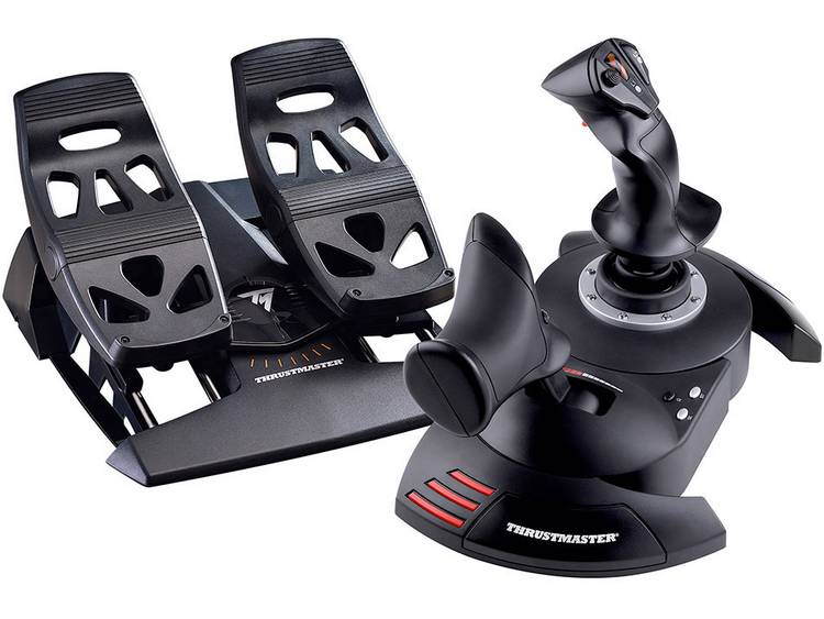 Thrustmaster T.Flight Full Kit Vliegsimulator-controller RJ12, USB PC Zwart Incl. pedaal
