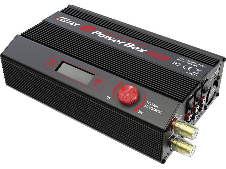 Modelbouwnetvoeding, regelbaar Hitec Powerbox 50A 100 V/AC, 230 V/AC 50 A 1200 W