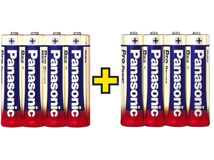 AA batterij (penlite) Panasonic Pro Power 4+4 gratis Alkaline 1.5 V 8 stuks