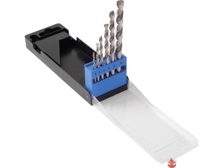 HSS Metaal-spiraalboorset 6-delig C.K. T3101 DIN 338 Cilinderschacht 1 set