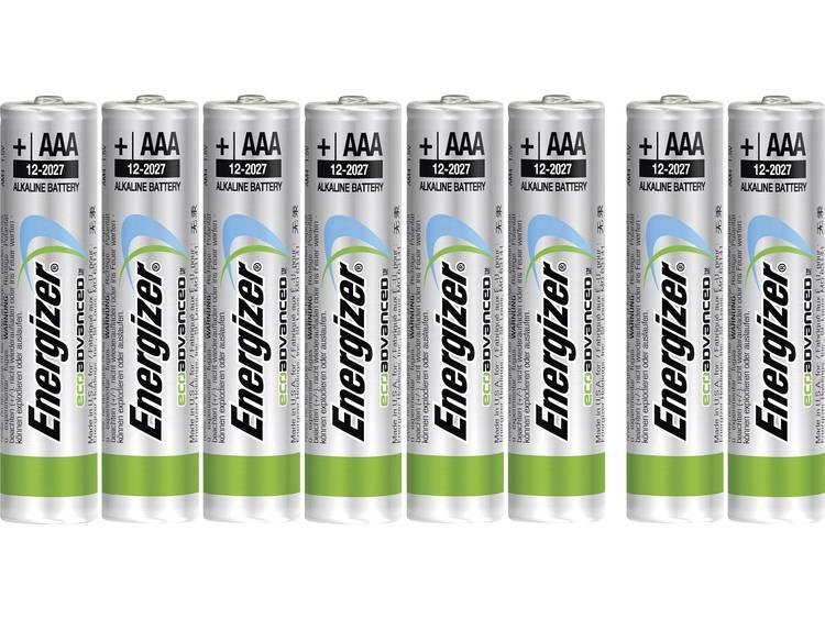 AAA batterij (potlood) Energizer Eco Advanced LR03, 6+2 gratis Alkaline 1.5 V 8 stuks