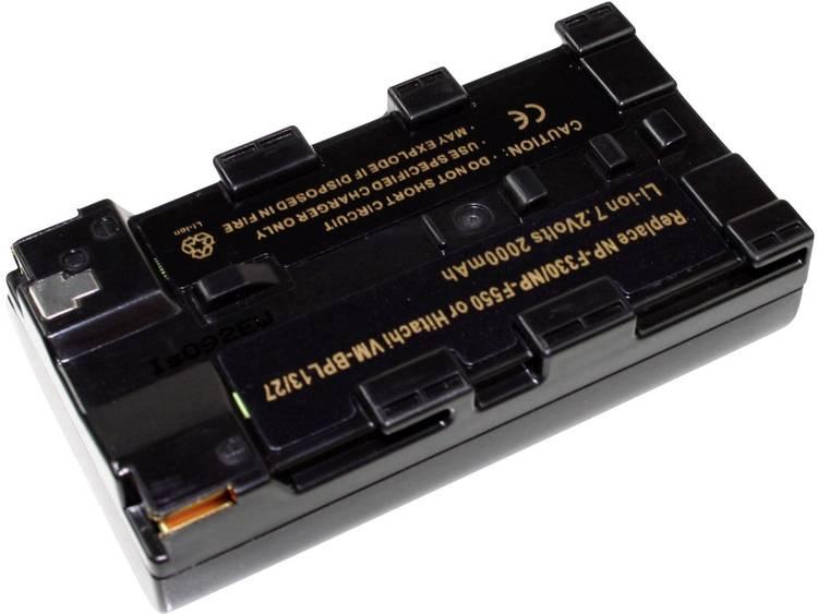 Connect 3000 NP-F550 Camera-accu Vervangt originele accu NP-F550 7.4 V 2000 mAh