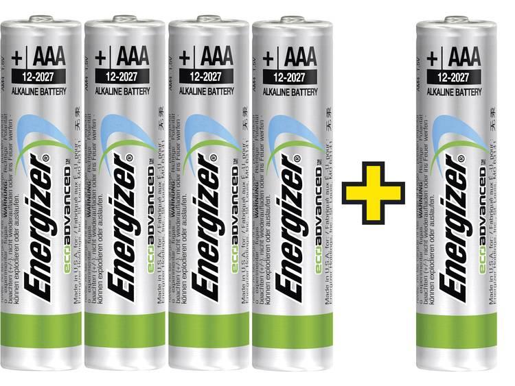 AAA batterij (potlood) Energizer Eco-Advanced 4 +1 gratis Alkaline 1.5 V 5 stuks