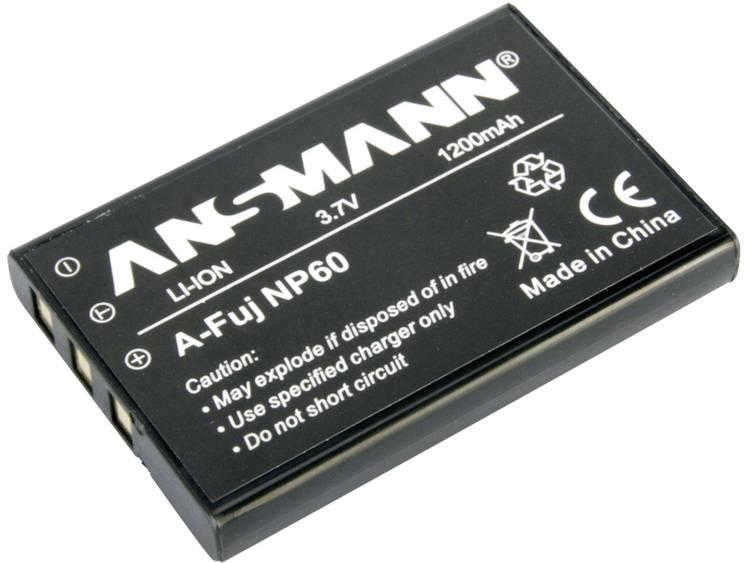 Ansmann A-Fuji NP 60 Camera-accu Vervangt originele accu NP-60 3.7 V 1200 mAh
