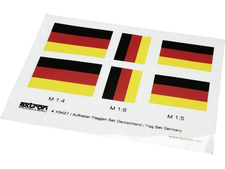 EXTRON Modellbau Sticker vlaggenset