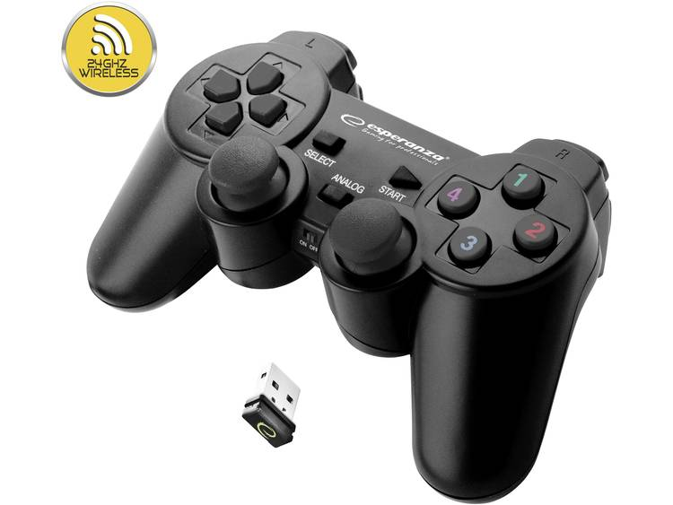 Esperanza Gladiator Gamepad PC, PlayStation 3 Zwart