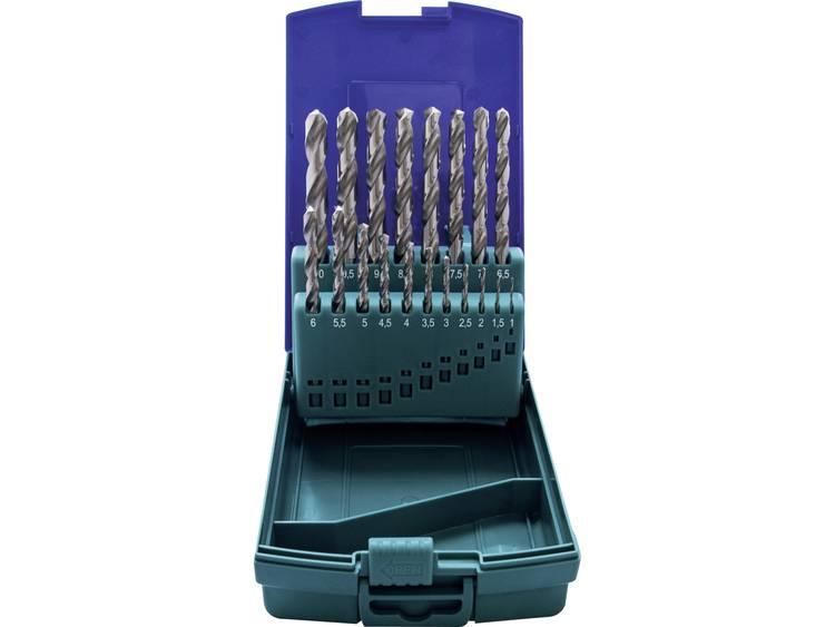 HSS Metaal-spiraalboorset 19-delig Heller 29382 2 DIN 338, DIN 1414 Cilinderschacht 1 set