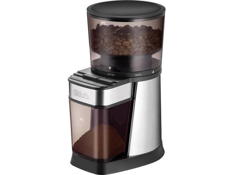 Unold 28915 28915 Koffiemolen Zilver, Zwart Stalen kegelmaalwerk