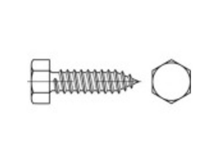 Zeskant plaatschroeven 45 mm Buitenzeskant (inbus) N/A ISO 1479 Staal Galvanisch verzinkt 250 stuks TOOLCRAFT TO-5444955