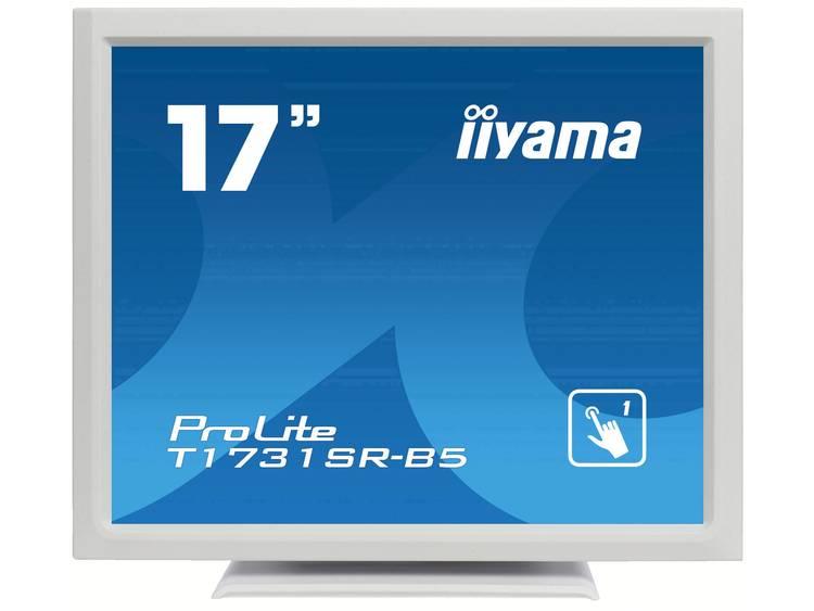 Iiyama ProLite T1731SR Touchscreen monitor 43.2 cm (17 inch) Energielabel A (A+++ – D) 1280 x 1024 pix SXGA 5 ms DisplayPort, HDMI, VGA, Audio-Line-out TN LED
